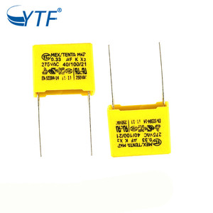 Hot Sale for x2 MKP 275VAC 0.33uF 334j Metallized Polypropylene Film Capacitor in Air Conditioner Parts