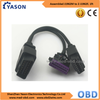 OBD2 Splitter Y Cable, Assembled J1962 Male to 2 J1962 Female, 1ft