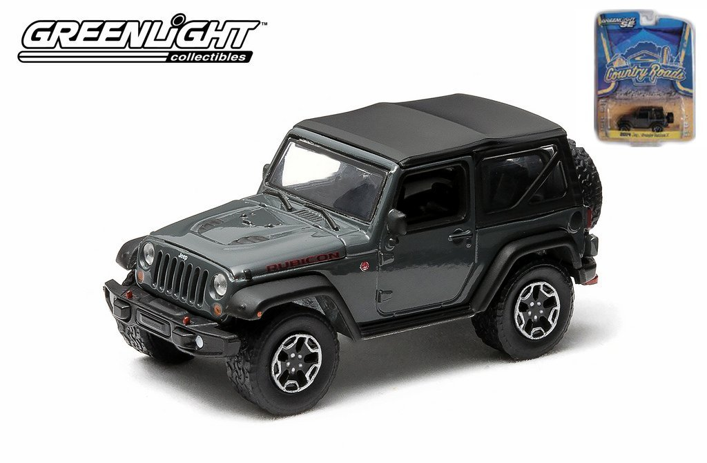 Greenlight SE Limited Edition Country Roads Series 12 - Limited Edition 2014 Jeep Wrangler Rubicon X, Black 1:64 Scale Die-cast
