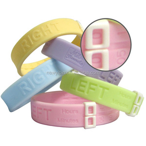 100% eco-friendly Silicone Wristband Pink Color Milk Band Nurse Breastfeeding Braceletes for new mom