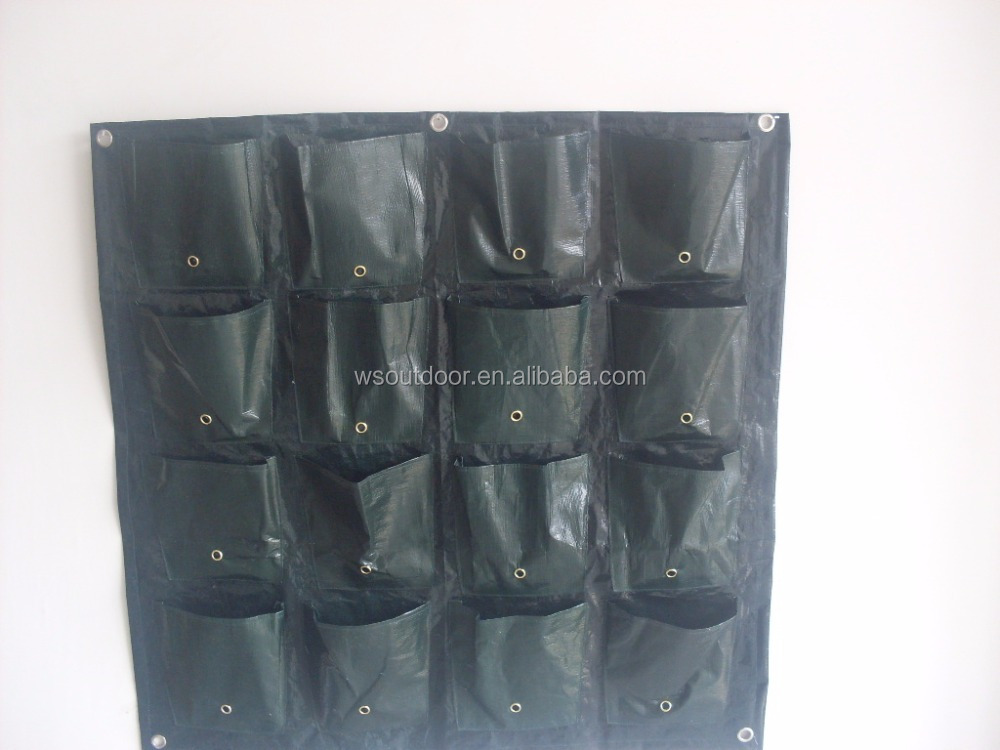 Pockets vertical garden felt planter grow bags