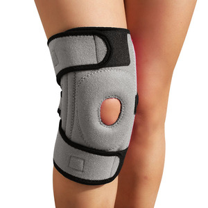 Sports knee protector open patella knee support neoprene hinged knee support brace