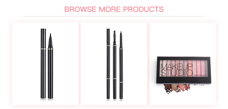 Good quality long lasting waterproof brown eye liner without private label