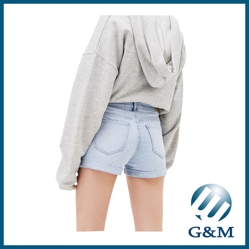 Newest Wide Leg Casual Floral Embroidery Denim Shorts
