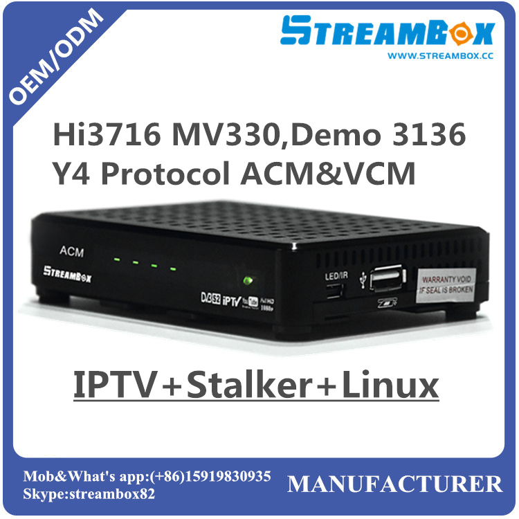 Hi3716 MV330 ACM VCM Stalker YouTube digital linux satellite receiver with server cccam iptv sks iks