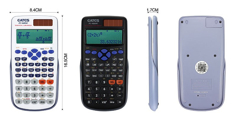 EATES Factory Direct Prices Solar Power Customized 10+2 Digits 2 Line Scientific Calculator
