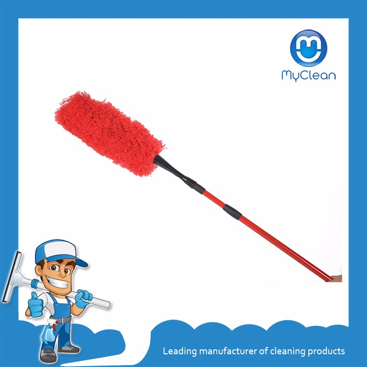 Myclean clean red telescopic microfiber duster set