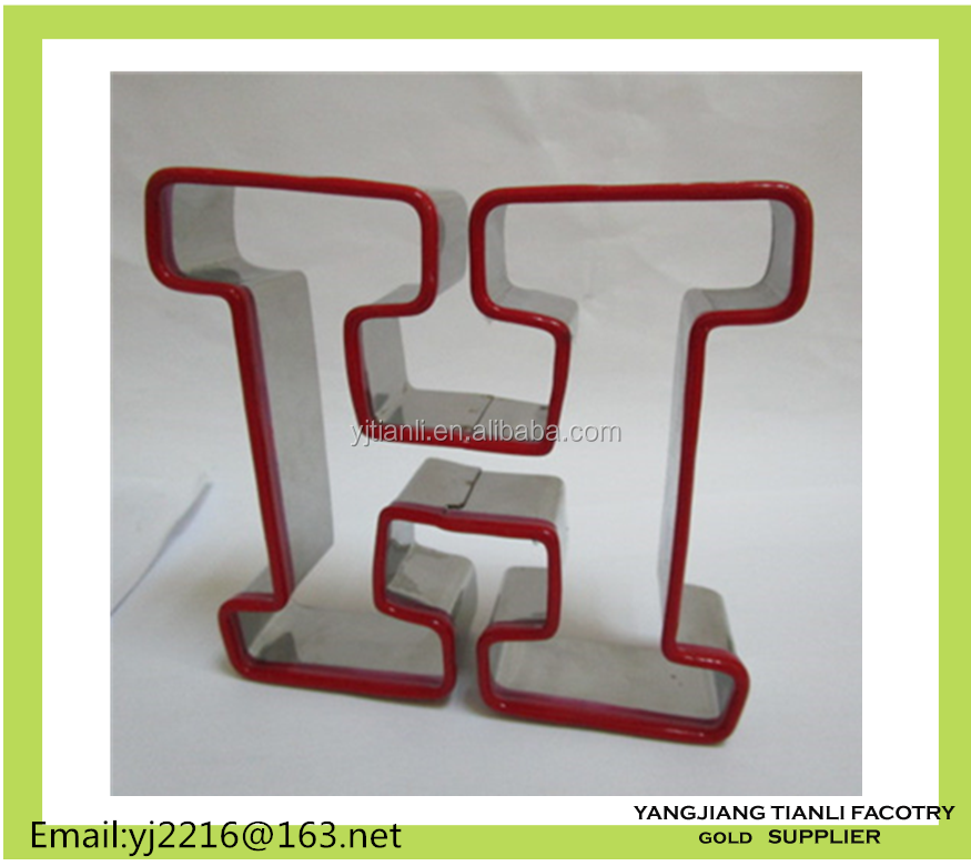 New Design kitchen cookie cutter metal cookie mold with silicone edge