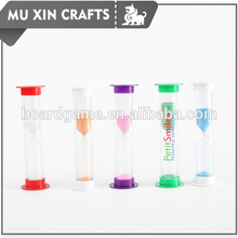 Cheap colorful small size hourglass with customized logo