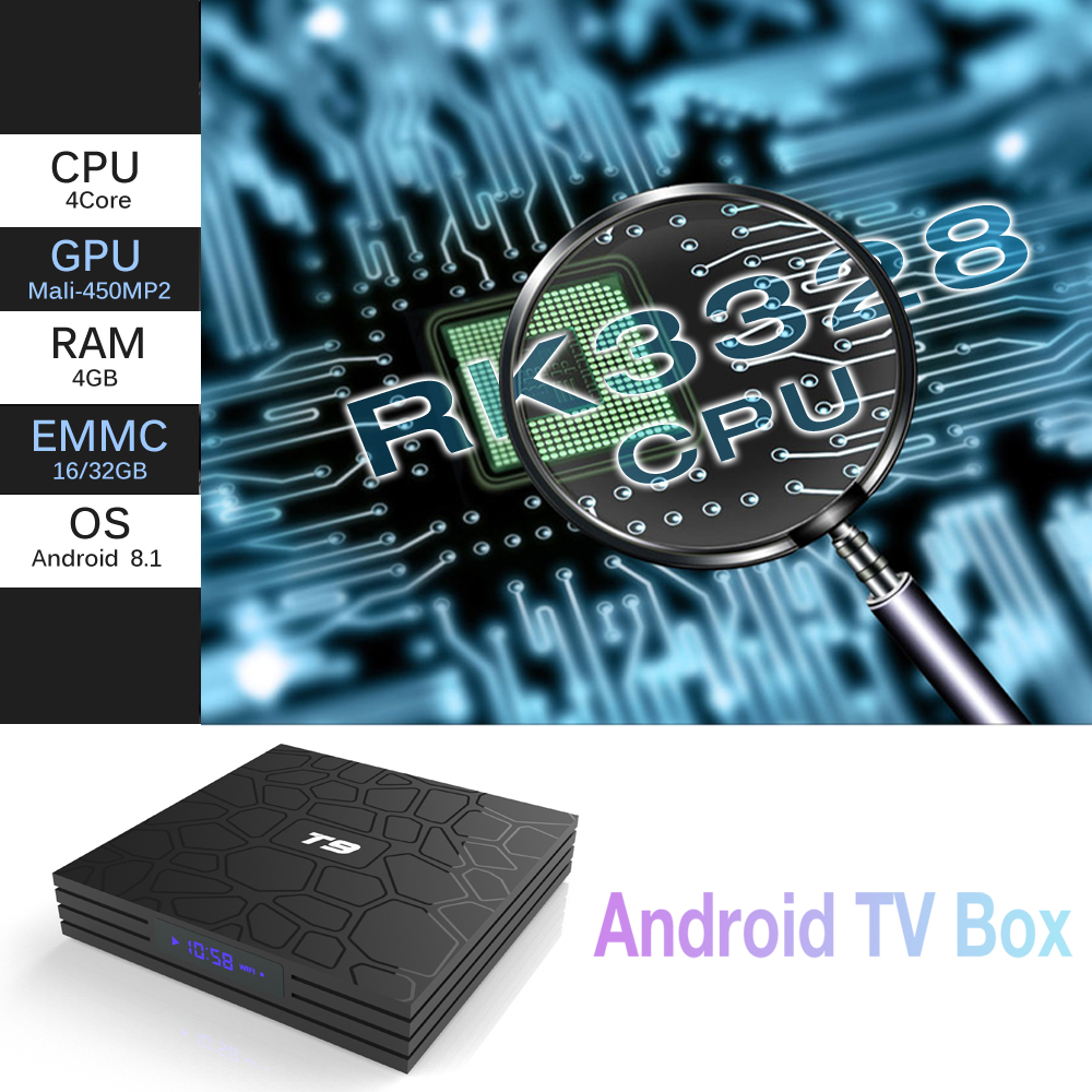 Shenzhen IMO New Product T9 KDMC 18 0 TV Box Rockchip RK3328 4GB RAM 32GB  ROM Android 8 1 TV Box Full Stock Can OEM Logo UI Apps, View Best tv box T9