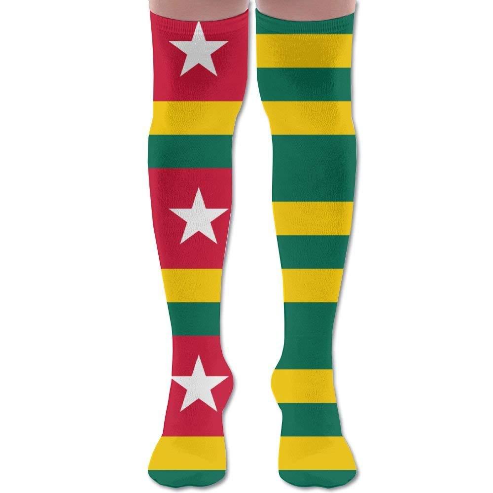 Unisex Firefighter Red Line Flag Knee High Long Socks Athletic Sports Tube Stockings For Running,Football,Soccer