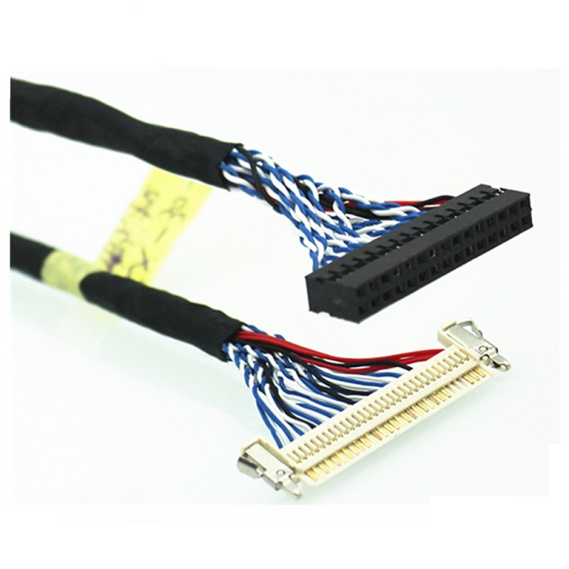 Factory OEM ODM ISO ROHS 30 Pin JAE-FIX-30HL to 15 Pin Dupont 2.0 Connector LVDS Cable