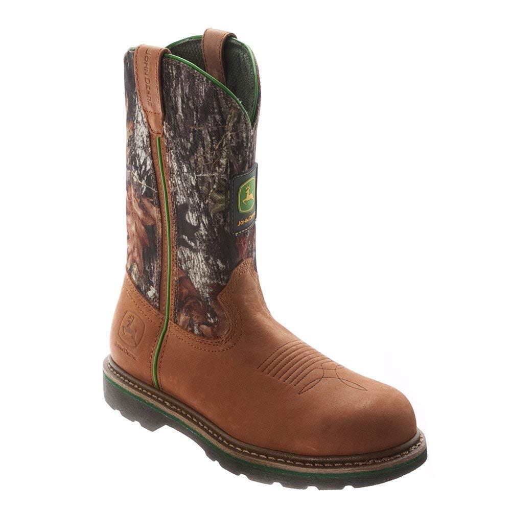 John Deere Men's 11 Inch Mossy Oak Camo Steel Toe Boot