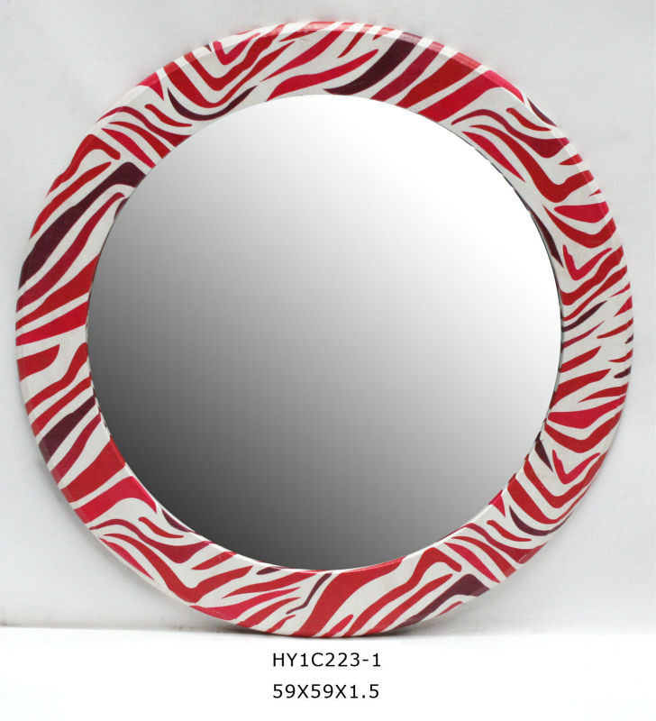 zebra-stripe interior or bathroom decorative mirror