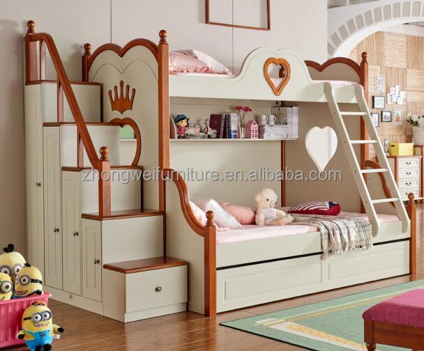 Creativo de madera doble cama litera para ni os y madre - Doble cama para ninos ...