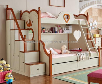 Creative Wooden Double Bunk Bed For Kids And Mother Buy Bunk Bed