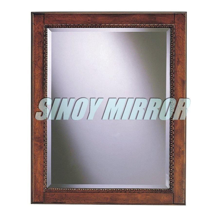 Sin marco bathoom borde biselado espejo de plata for Precio de espejos sin marco
