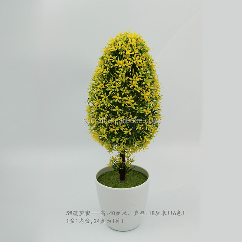 High quality realistic mini bonsai/Artificial jack fruit tree for house & office display