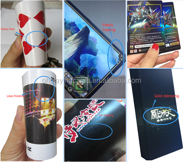 art card paper with uv couting varshing matt lamination laser snow effect