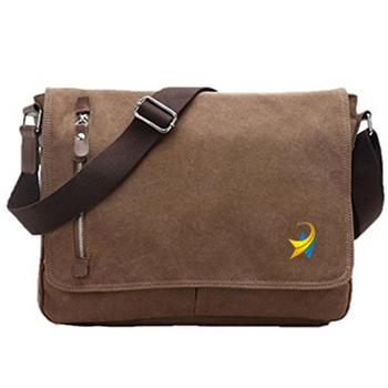 Life Boost Vintage Canvas Satchel Messenger Laptop Shoulder Crossbody Sling  Bag f94eb59911d82