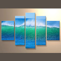 Newest Handmade China Supplier Abstract Ocean Painting For Decor