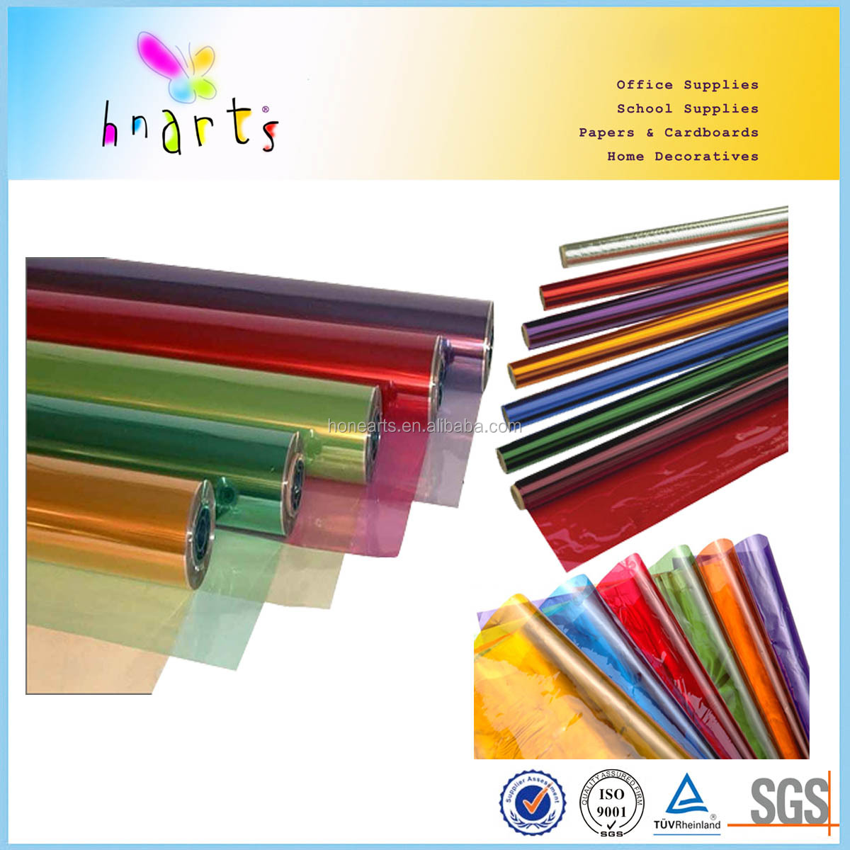 Colored Cellophane Paper sheet