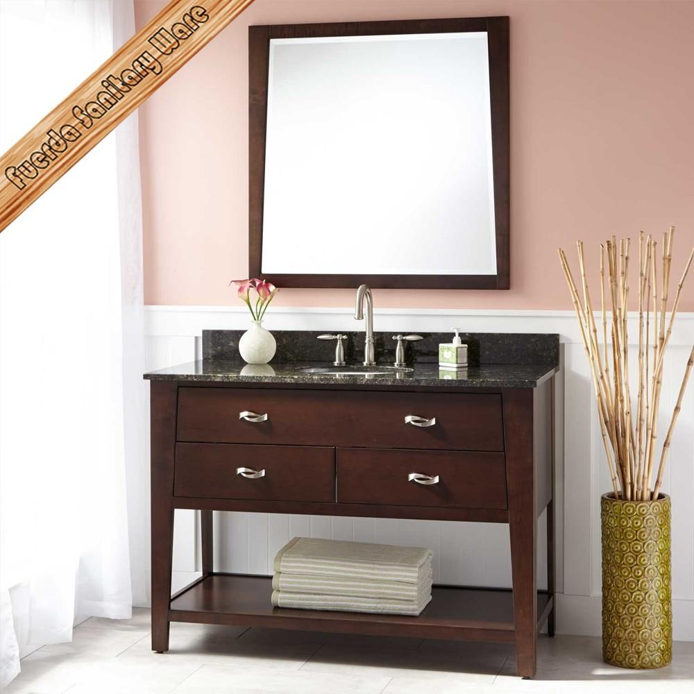 Low Price 48 Inch Solid Wood Single Sink Bathroom Vanity ...