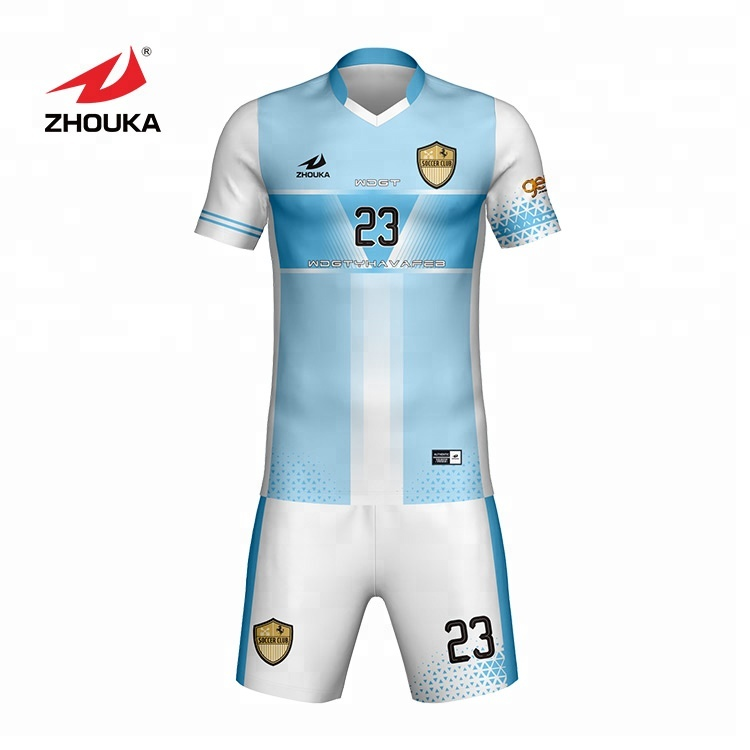 f64a6762eeb30 Customize your own Soccer Uniforms New football shirt club team soccer  jersey full sublimation logo and team name