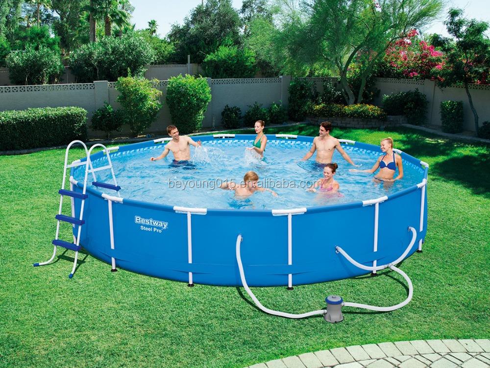15ftx33in bestway 15 pies ronda marco de acero piscina de