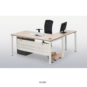 L Shape Office Cubicle Doctor Corner Desk Wooden Modular Ceo Manager Front Counter Executive View Furniture Beston Product