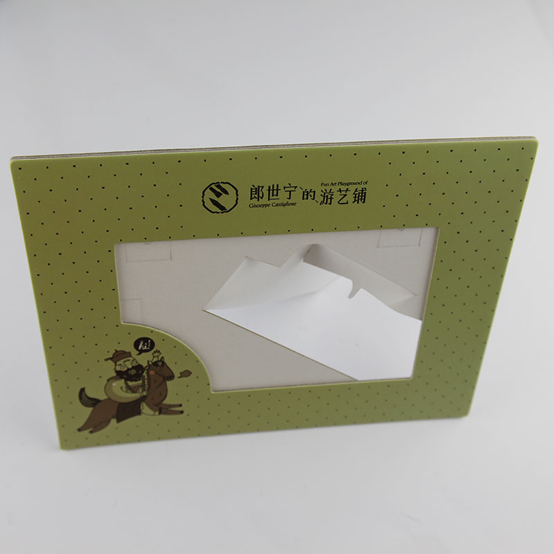 Custom cardboard paper photo frame for promotional gift