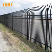 Best Quality press formed spear black coated steel picket fence