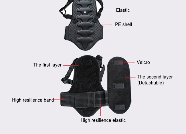 Light-weight Back Protector For Ski & Snowboard 7