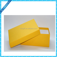 Yellow lid and base box&Stylish cardboard gift boxes for shoe