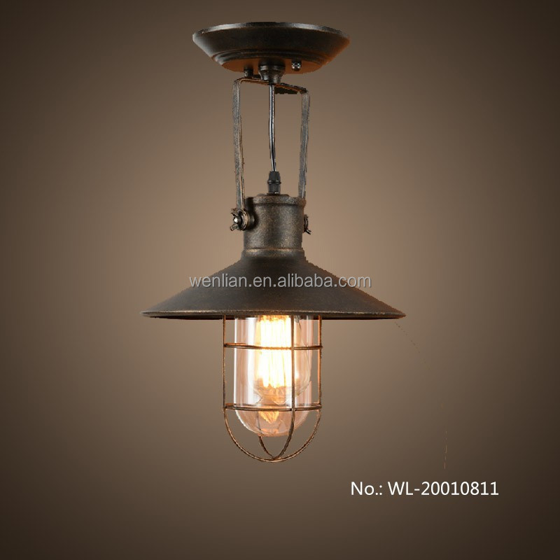 Vintage Lighting Wrought Iron Ceiling Lamp For Coffee Shop