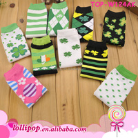 Wholesale heated Boutique Knitted lime soft Leg Warmer for kids