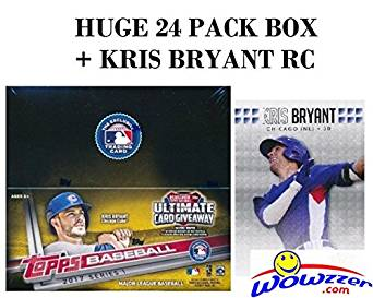 2017 Topps Series 1 MLB Baseball HUGE 24 Pack Factory Sealed Retail Box with 288 Cards Plus BONUS 2013 KRIS BRYANT ROOKIE Card! Loaded with Cool Inserts & RC's! Look for Autographs & Relics! Wowzzer!