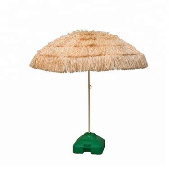2018 Hot Pp Straw Beach Umbrella With Tels