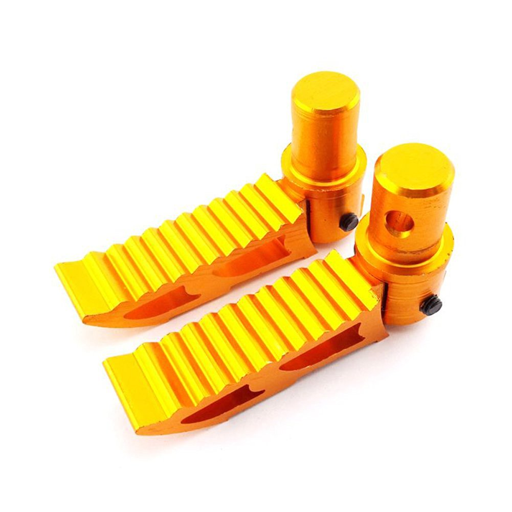 TC-Motor CNC Gold Alloy Aluminum Foot Pegs Foot Rest Footpegs Footrest For Chinese 47cc 49cc Pocket Bike 2 Stroke Mini Moto Minimoto Dirt Bike