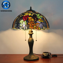 African style lamps decorative colorful glass shade table lamp very cheap price