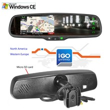 2018 Win CE system 4.3 인치 Car Rear View Mirror GPS Navigator 와 cobra <span class=keywords><strong>레이더</strong></span> detector, 땅 전층 <span class=keywords><strong>레이더</strong></span>