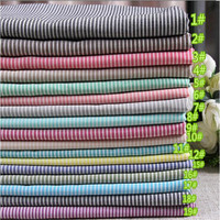 hot sale 100% Cotton textile Striped shirt fabric with cheap price