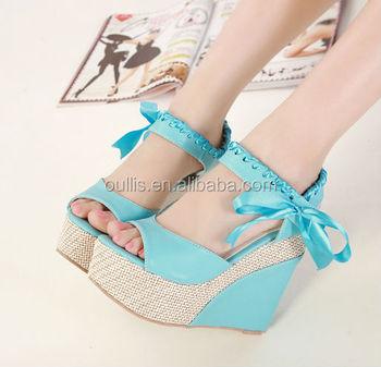 2015 New Design Women Wedges Shoes Wholesale Ladies Shoes China ...