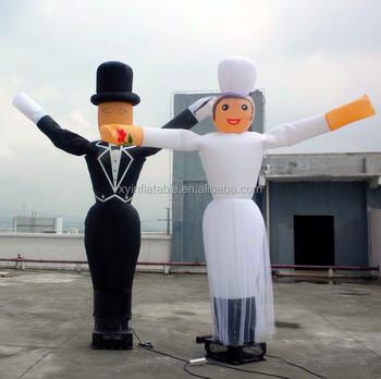 Hot Sale Custom Bride Mini Inflatable Sky Air Dancer