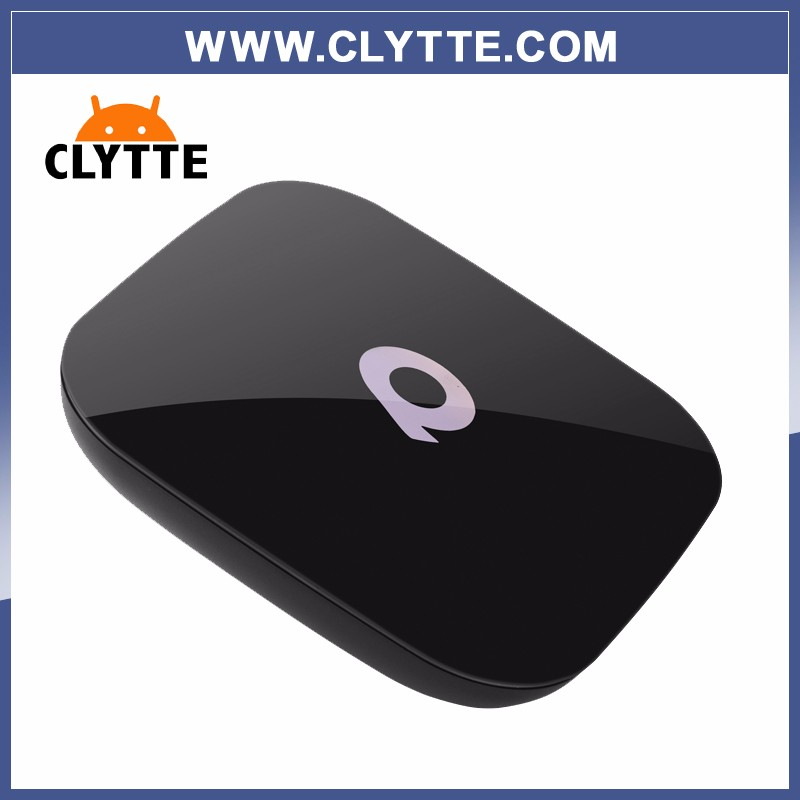 5PCS Qbox CLYTTE Android 6.0 <strong>TV</strong> <strong>BOX</strong> 2G/16 GB <strong>Amlogic</strong> S905X Quad Core 2.4G/5 GHz Dual WIFI H.265 KODI Media Smart