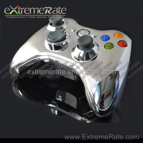 Chrome Silver Controller Case for Xbox 360 Game Mod Kit Repair Controller Parts