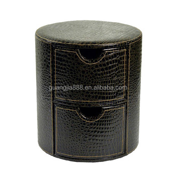 High quality brown round wooden storage stoolmultifunctional leather stool with 2 drawers  sc 1 st  Alibaba & High Quality Brown Round Wooden Storage StoolMultifunctional ... islam-shia.org