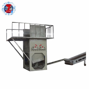 high efficiency four axis automatic plastic bottle pet bale opener machine