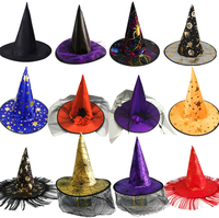 Children's party hats for Halloween and non-woven spiders cap witches hat pirates' hats
