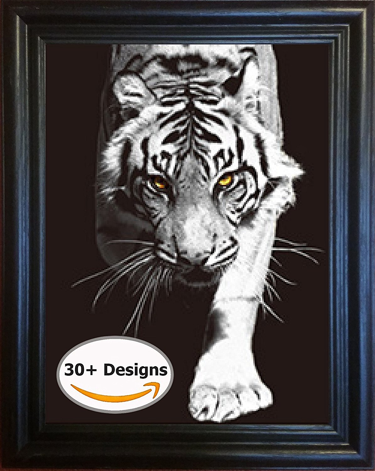 The 3D Art Company- Framed Black & white cats- Unbelievable Life Like 3D Art Pictures, Changes between different images! Lenticular Posters, Cool Art Deco, Unique Wall Art Decor, Dozens to Choose From